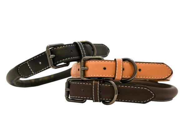 1pc 100% Handmade Faux Leather Dog Collar for Medium and Large Sized Dogs
