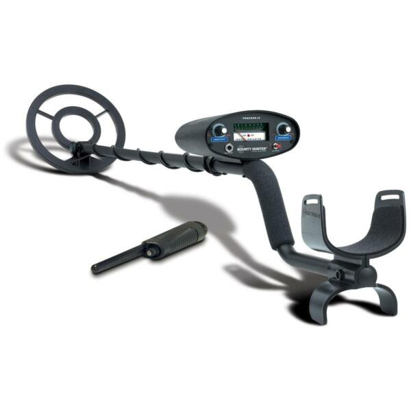 Bounty Hunter Tracker IV Metal Detector 8quot; Open Face Coil Pinpointer 6.5 kHz