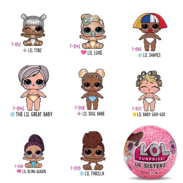 Lol Surprise Lil Sisters Eye Spy Series 4 Choose your doll Ultra RareGold Ball