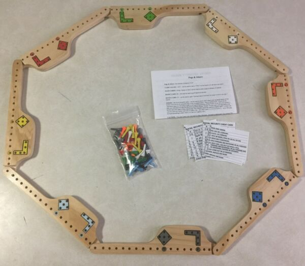 Pegs and Jokers Board Game - Brand New - Handmade- 8 Player