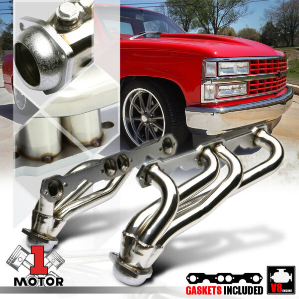 SS Exhaust Header Manifold for 88-97 Chevy/GMC C/K Pickup Truck GMT400 5.0/5.7