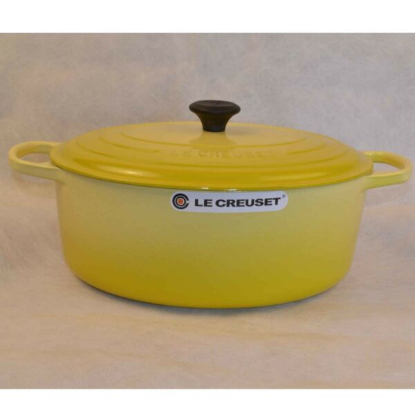 Le Creuset Signature Enameled Cast Iron 9.5 Quart Oval French Oven-Soleil Yellow