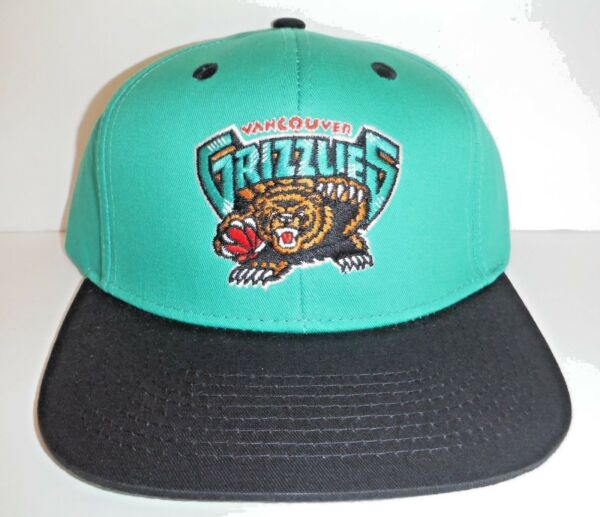 Vancouver Grizzlies Authentic Snapback HAT  NWT Cap Adidas 100% Cotton