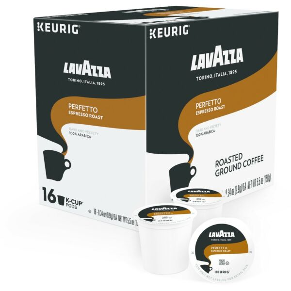 Lavazza Perfetto Coffee 16 to 64 Keurig K cup Pods Pick Any QuantityFREE SHIP