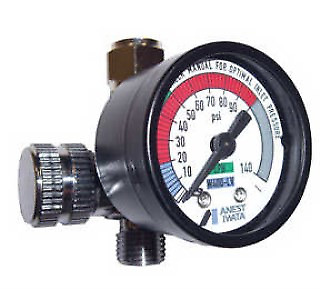 IWATA 8130B  AIR FLOW ADJUSTMENT CONTROL VALVE WITH GAUGE 0-140 PSI REGULATOR
