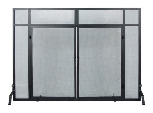 Achla Minuteman Fireplace Windowpane Screen with Doors S-66