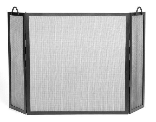 Achla Minuteman Twisted Rope Fireplace Spark Guard Folding Screen Large SS-31L