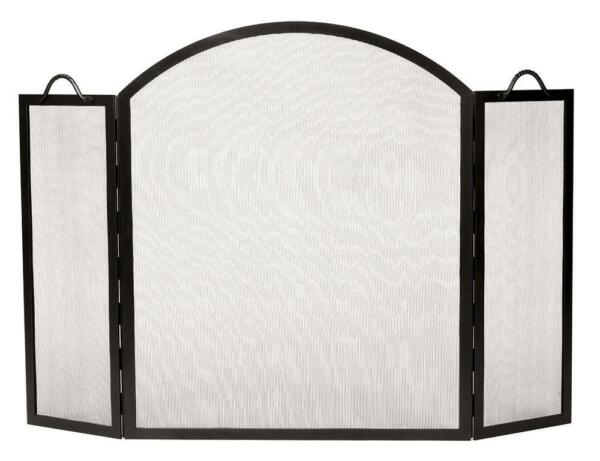 Achla Minuteman Arched Top Twisted Rope Fireplace Spark Guard Screen SS-32