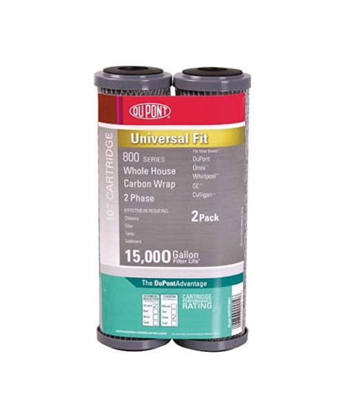 Dupont 800 Series 10quot; Whole House Carbon Wrap Water Filter 2 Pack WFPFC8002 $15.95