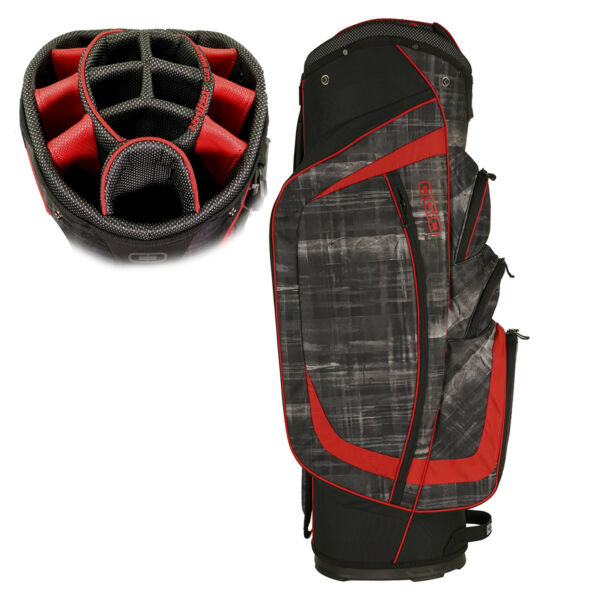 OGIO Men's 2017 Shredder Golf Cart Bag Paranormal/Red
