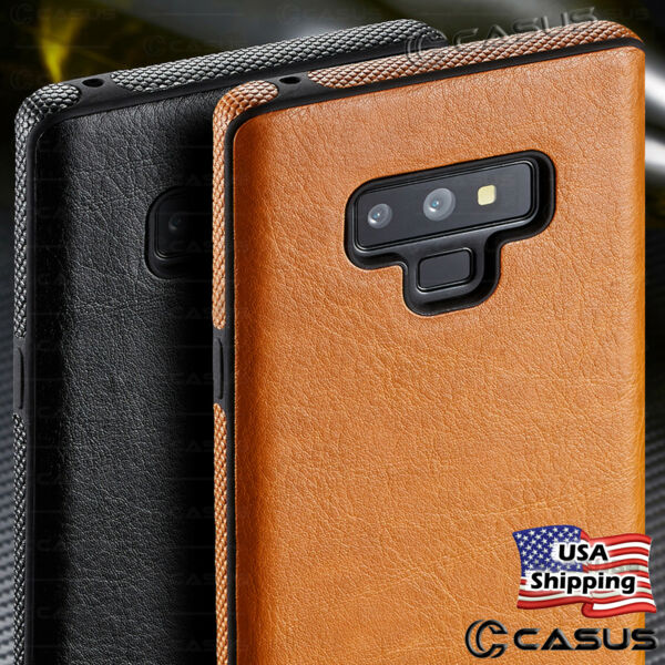 For Samsung Galaxy Note 9 8 S9 S8 Plus Slim Luxury Leather Thin TPU Case Cover $9.95