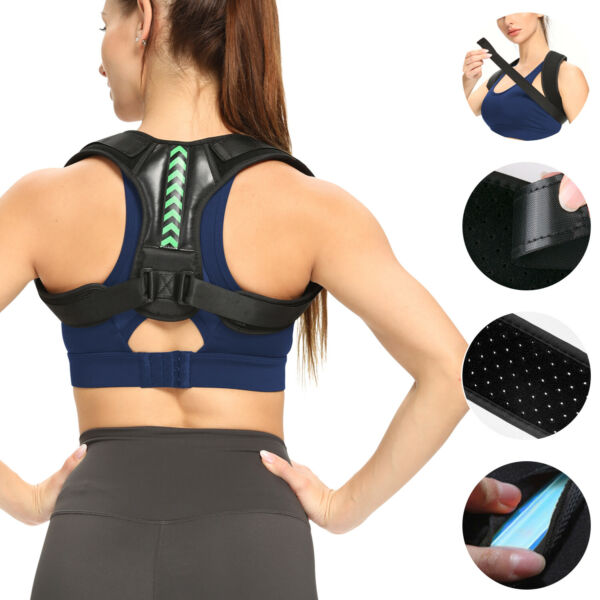 For MenWomenKids Posture Corrector Shoulder Neck Low Back Pain Support Brace