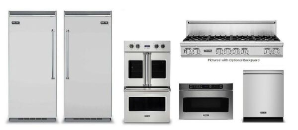 Viking 48in Rangetop, 36in Refrigerator and Freezer, Double Oven