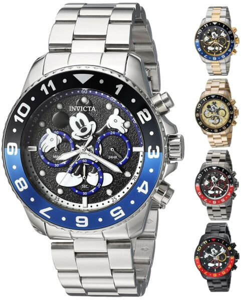 Invicta Disney Limited Edition Men's 44mm Chronograph Watch - Choice of Color