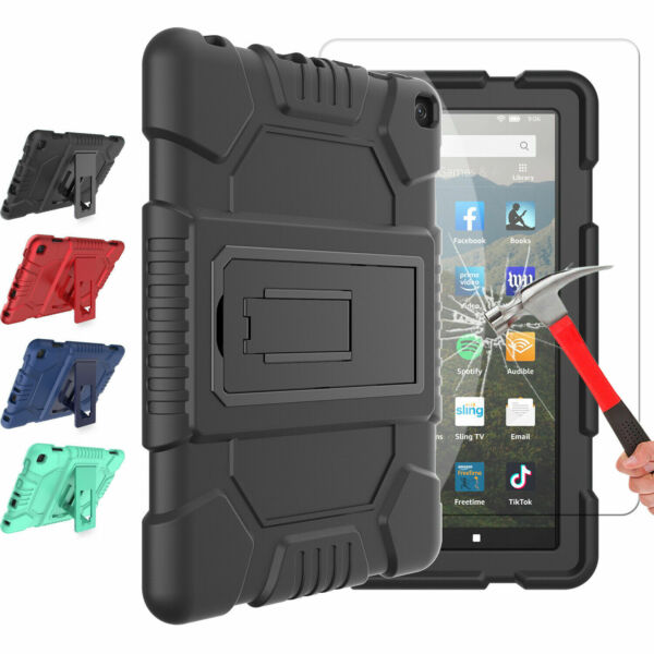 For Amazon Kindle Fire HD 8 8th Gen 20182017 Tablet Heavy Duty Stand Case Cover