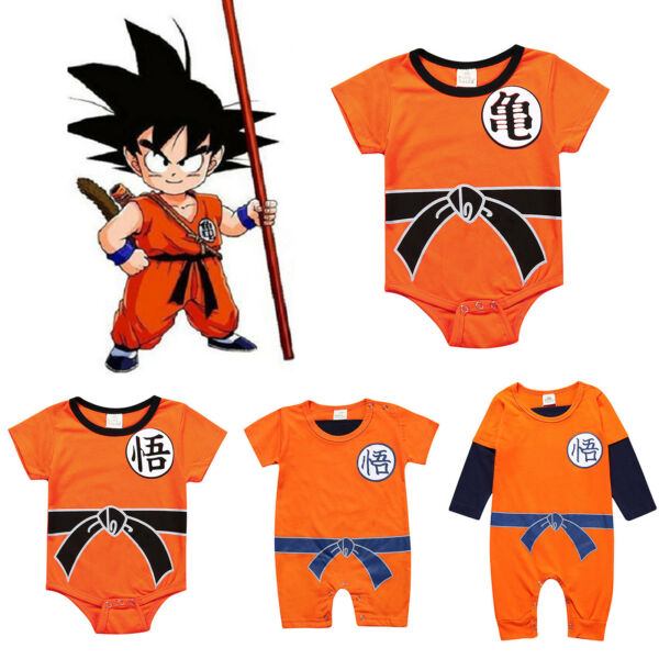 Dragon Ball Goku Baby Costume Newborn Infant Boy Clothes Romper Bodysuit Outfits