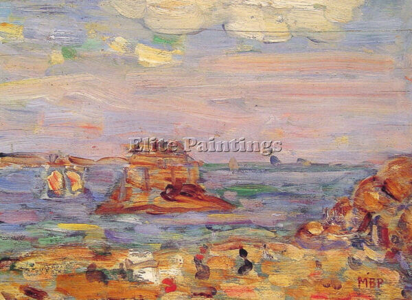 BRITTANY COAST ARTIST PAINTING REPRODUCTION HANDMADE OIL CANVA REPRO ART DECO