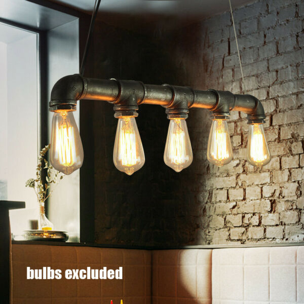 Retro Vintage Pipe Wall light Sconce Wall Lamp Lighting Fixtures Home Cafe Bar