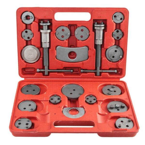 21pcs UniversaL Disc Brake Caliper Tool Set and Wind Back Kit for Brake Pad Red