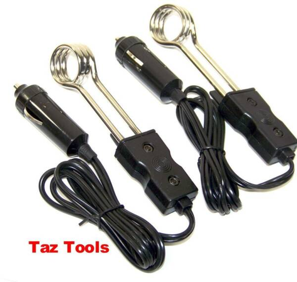 2Pc 5quot; Water Heater 12V Electric Portable Immersion Element Boiler Coffee Water $9.99