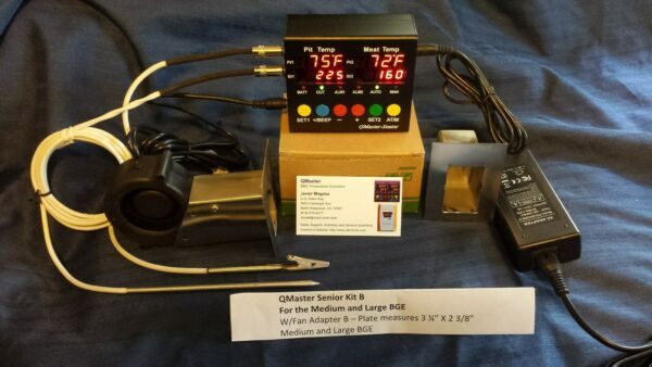 QMaster BBQ Automatic Temperature Controller B Fan Adapter Med. Lg  BGE
