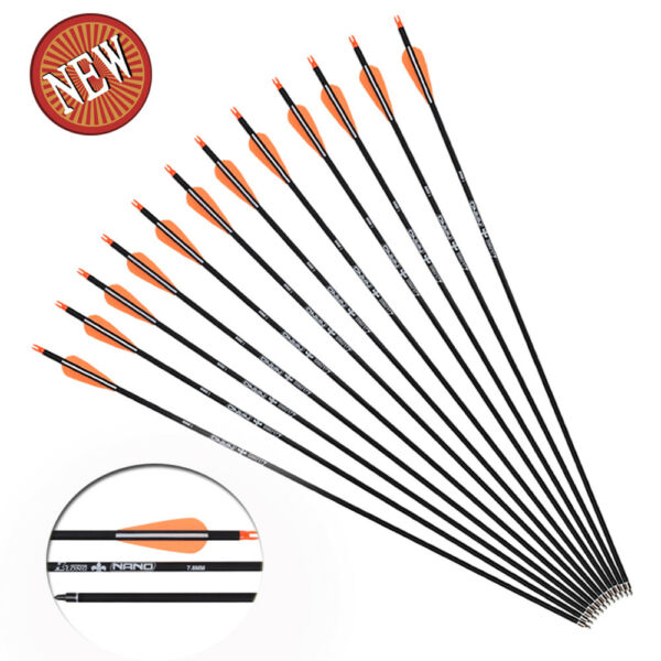 12x Archery 28#x27;#x27; Carbon Arrows Hunting Shooting Target for Recurve Compound Bow $34.40