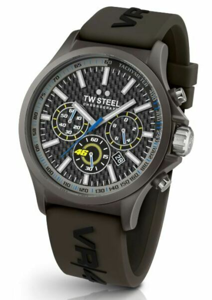 TW Steel TW936 Men#x27;s Special Edition VR 46 Pilot Chronograph 48mm Watch