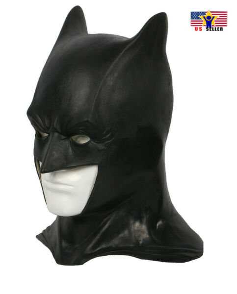 Batman Dark Knight Costume Latex Rubber Head Man Horror Scary Mask Halloween