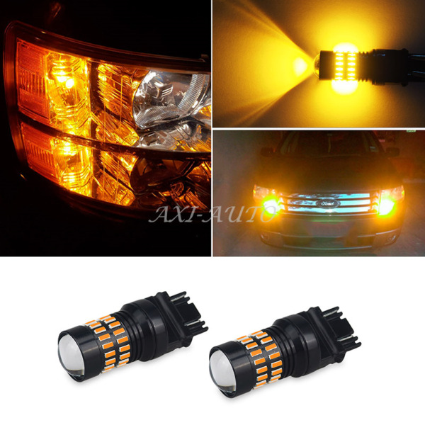 2x 48-SMD 3156 3157 3757A 4157 Super Amber Turn Signal Blinker LED Light Bulb AA