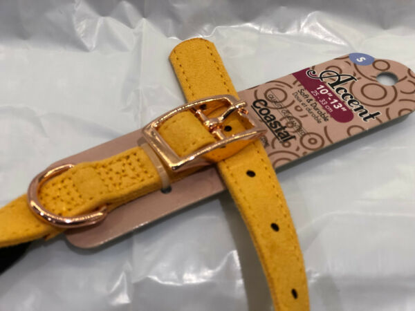 Microfiber Dog Pet Golden Yellow Coastal Pet Collar 10quot; 13quot; $3.99