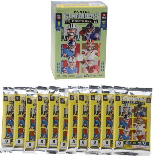 2018 Panini Contenders Football 11 Pack Blaster Box FACTORY SEALED Lamar Jackson
