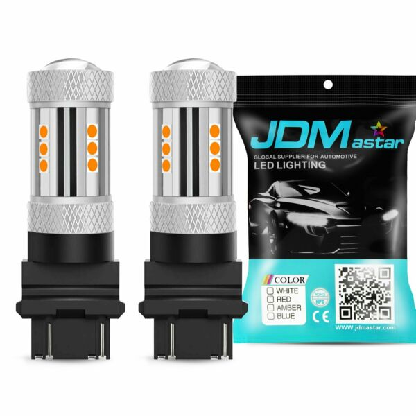 2x Yellow Amber 3057 4157 3457 3157 3030 SMD LED Bulbs Turn Signal Parking Lamps