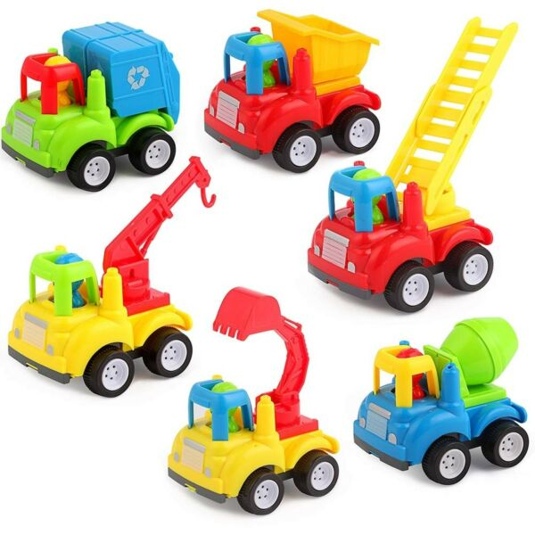 Friction Powered Cars Trucks Educational Present Toys for 1 2 Year Old Boy Gi...