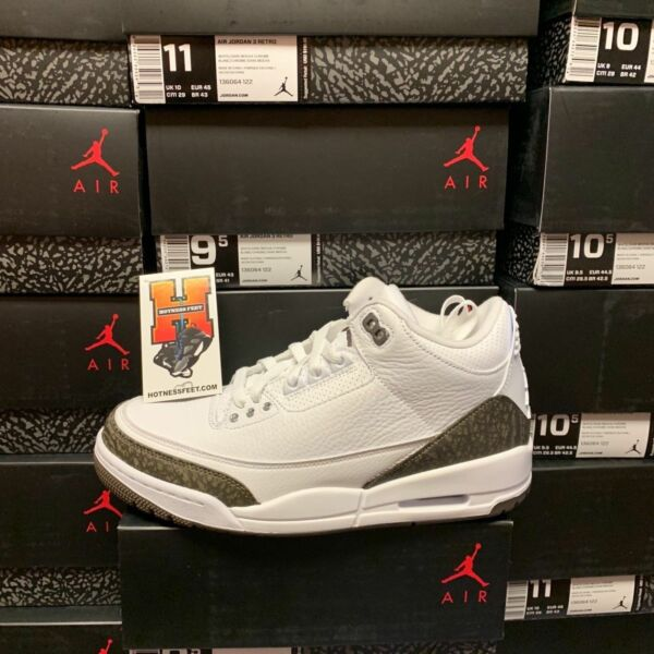 2018 Nike Air Jordan Retro 3 III NEW DS 2018 Mocha White 136064-122 Size: 8-14