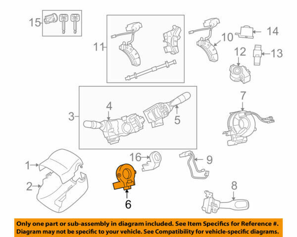 89245-48011 Toyota Sensor steering 8924548011 New Genuine OEM Part