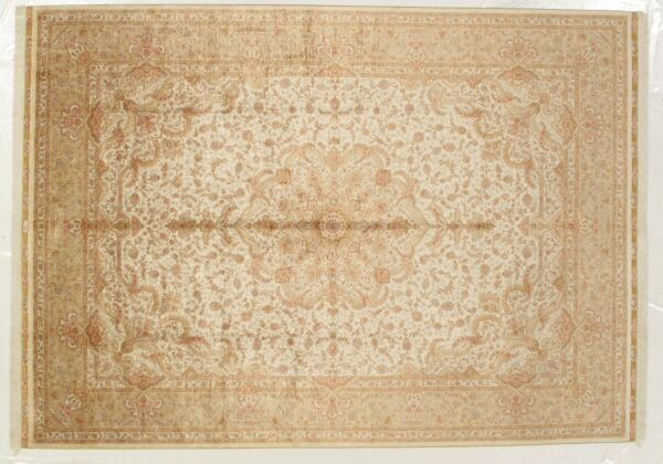 400 KPSI Silk Premium Quality Hand-Knotted Area Rugs 8 x 12 Ivory Rug