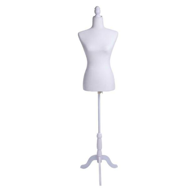 Female Mannequin Torso Dress Form Display With Tripod Stand BlackWhiteRed NEW