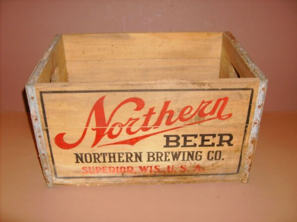 NORTHERN BEER CRATE NORTHERN BREWING CO. SUPERIORWIS.USA ANTIQUE WOOD BOX