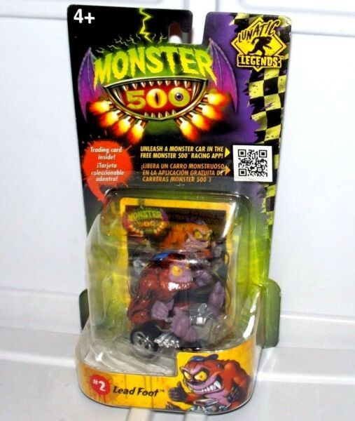 Fast Lane Monster 500 Lead Foot Trading Card amp; Small Car Vehicle Action Figure $27.95
