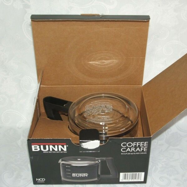 BUNN Replacement Black Glass Coffee Carafe Pot NCD Model 10 Cups 50 Ounces NEW