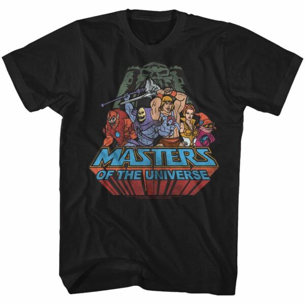Masters of the Universe T-Shirt New Register Official Mens Black SM - 5XL