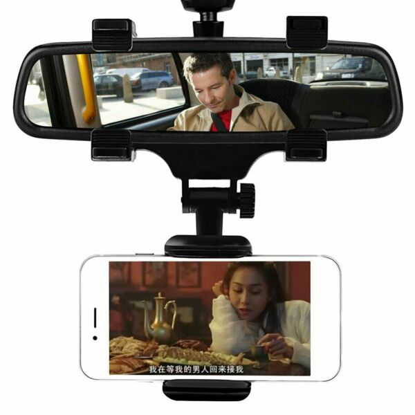 Universal Car Rear view Mirror Mount Holder For IPhone Samsung Phone GPS 360° $9.29