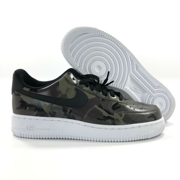 Nike Air Force 1 '07 LV8 Low Reflective Camo Green Brown 823511-201 Men's 9.5