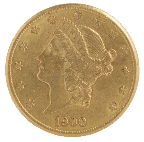 $20 Gold Liberty Double Eagle Coin (Random Date) VF or Better - 0.9675 oz