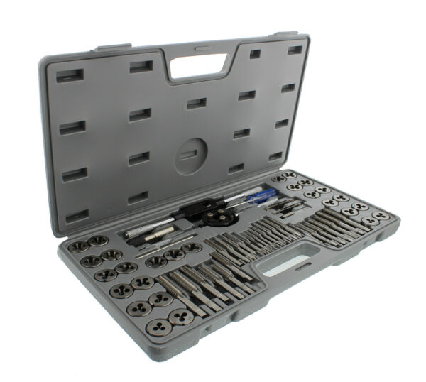 ABN Metric SAE Standard Tap and Die 60 Piece Rethread Set Thread Rethreading Kit
