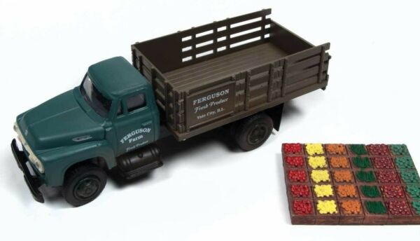 Classic Metal Works HO '54 Ford Stakebed Produce Crate Ferguson Farm  CMW40000