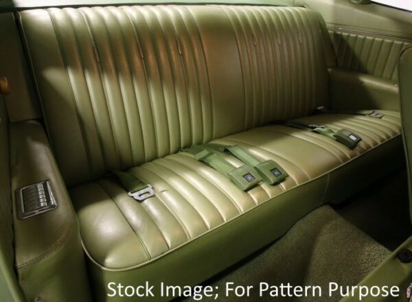 1969 Chevrolet Impala & SS; Pontiac Parisienne Coupe Rear Seat Cover