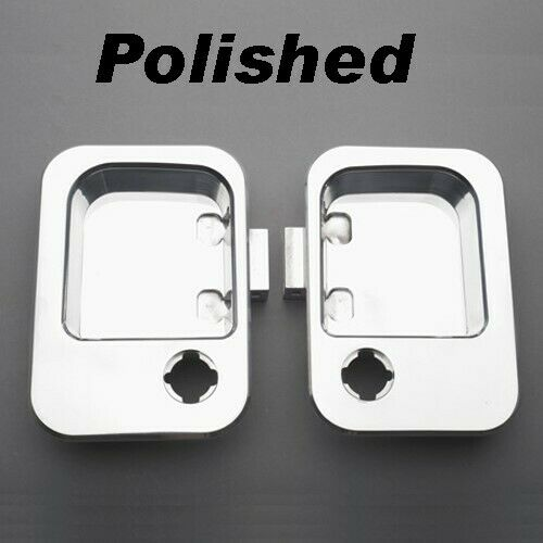 All Sales Polished Aluminum Exterior Door Handle Buckets Kenworth Peterbilt Pair