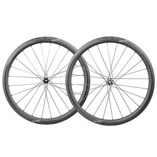 ICAN AERO 40 Carbon Clincher Disc Center Lock Wheelset Sapim CX-Ray Spokes 1355g