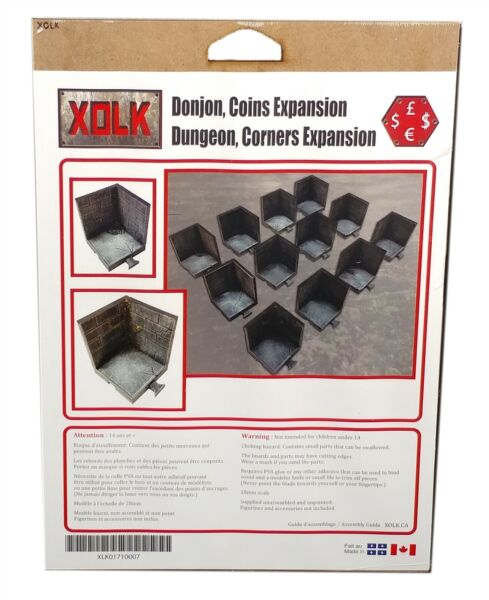 Xolk Dungeon Corners Expansion Roleplaying game Scenery Kit 28mm Scale